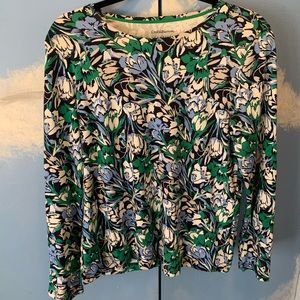 Croft & Barrow Floral 3/4 Sleeve Top